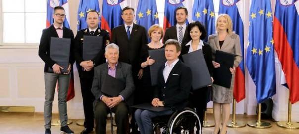 Ljubljana, Predsedniska palaca. Predsednik republike Borut Pahor je podelil priznanja na podrocju prostovoljstva za leto 2016.